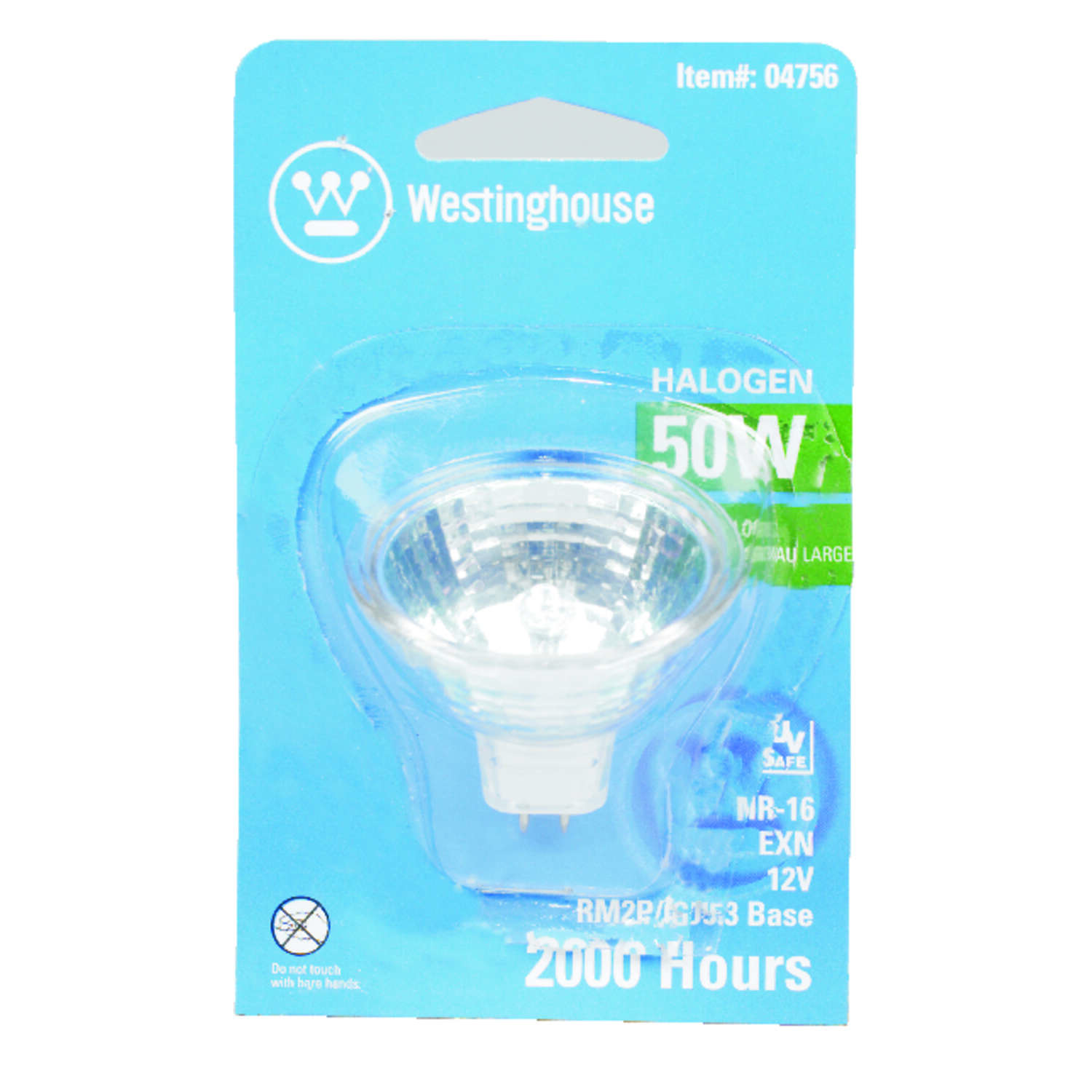 Westinghouse  50 watts MR16  Floodlight  Halogen Bulb  510 lumens White  1 pk