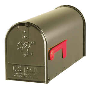 Gibraltar Mailboxes  Elite  Galvanized Steel  Post Mounted  Venetian Bronze  Mailbox  8-3/4 in. H x