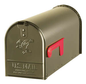 Gibraltar Mailboxes  Elite  Post Mounted  8-3/4 in. H x 8-3/4 in. H x 6-7/8 in. W x 20 in. L Venetia