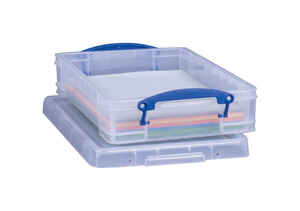 Really Useful Box  3-3/8 in. H x 10-1/4 in. W x 14-1/2 in. D Stackable Storage Box