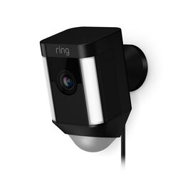 Ring  Spotlight Camera  Hardwired  Outdoor  Black  Wi-Fi Security Camera