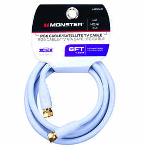 Monster Cable  Just Hook it Up  6 ft. Video Coaxial Cable