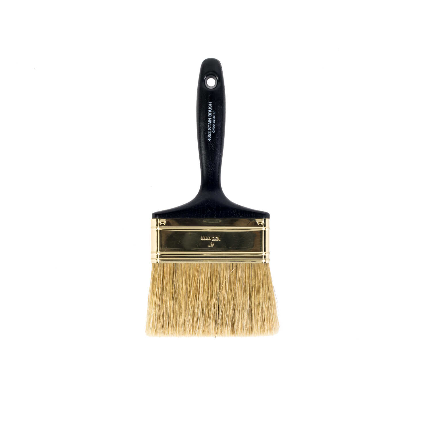 Wooster  4 in. W Flat  White China Bristle  Oil-Based Paint Brush