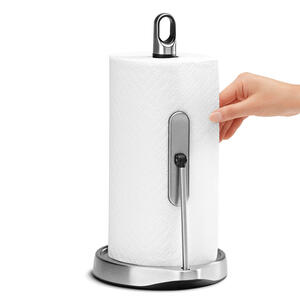 simplehuman  Stainless Steel  Freestanding  Paper Towel Holder  14.6 in. H x 7.3 in. W x 8.1 in. L