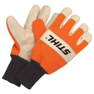 STIHL  Goatskin Leather  Work Gloves  Heavy Duty  XL  1 pair Gray/Orange