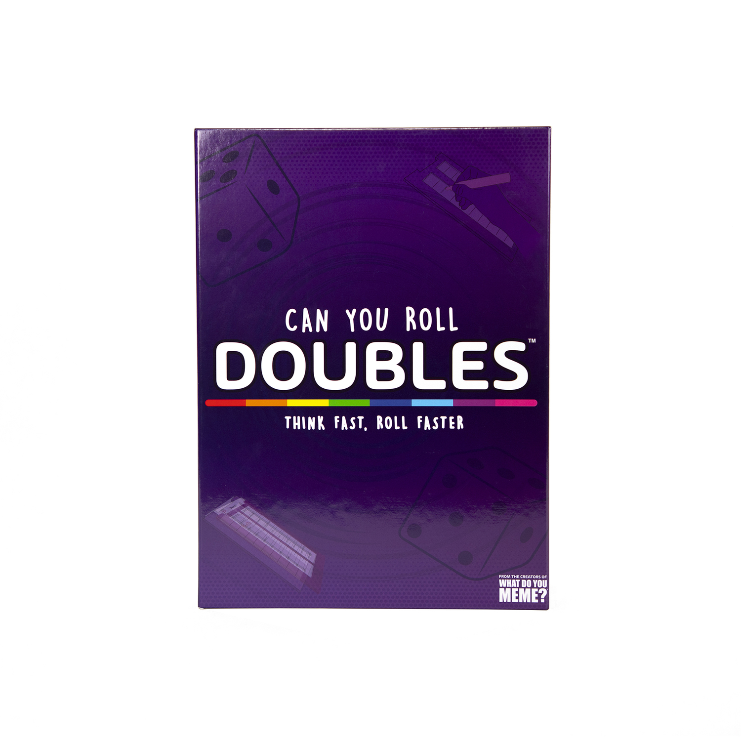What do you Meme Doubles Board and Dice Game Multicolored Doubles! is the rapid-fire, high-pressure game where players compete to fill out the category sheet before their opponents can roll doubles and steal the board.
