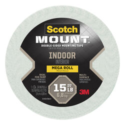Scotch Mount Double Sided 3/4 in. W x 350 in. L Mounting Tape White
