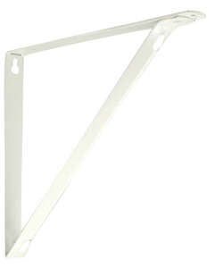 Knape & Vogt  Closet Pro  Powder-Coated  White  Steel  N/A Ga. Bracket  9 in. H x 1 in. W x 10.25 in