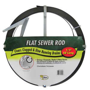 Cobra  1/2 in. Flat Steel Sewer Rod  50 ft.