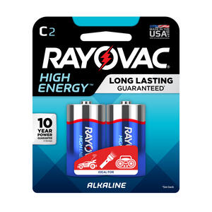 Rayovac  High Energy  C  Alkaline  Batteries  2 pk Carded