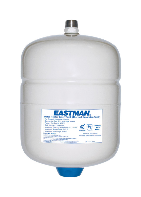 Eastman  Steel  Pre-Charged Expansion Water Tank  8-5/16 in. W x 12-5/16 in. H x 8-1/2 in. L MPT