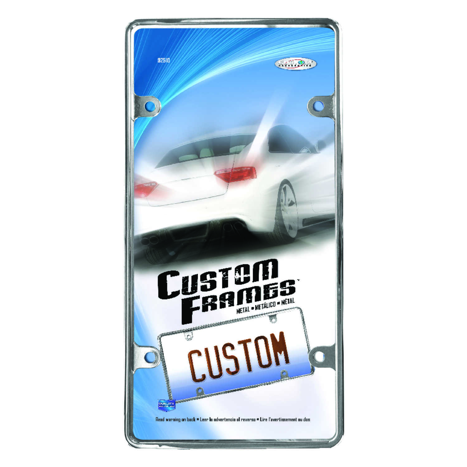 Custom Accessories  Metal  License Plate Frame