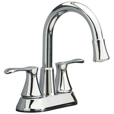 OakBrook Doria Brushed Nickel Two Handle LED Lavatory Pop-Up Faucet 4 in.