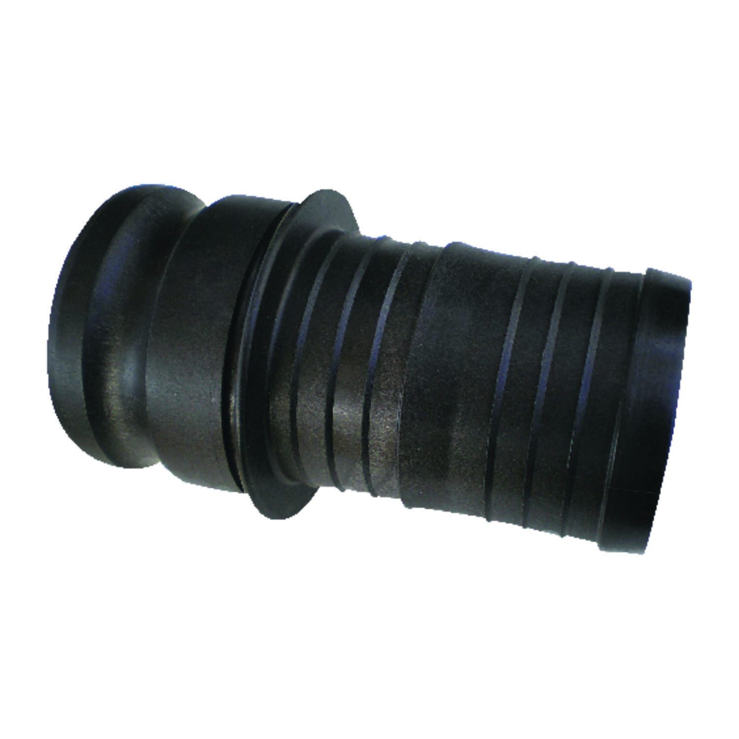Pacer  Polypropylene  Male Hose Adapter  2 in. Dia. x 2 in. Dia. Black  1 pk