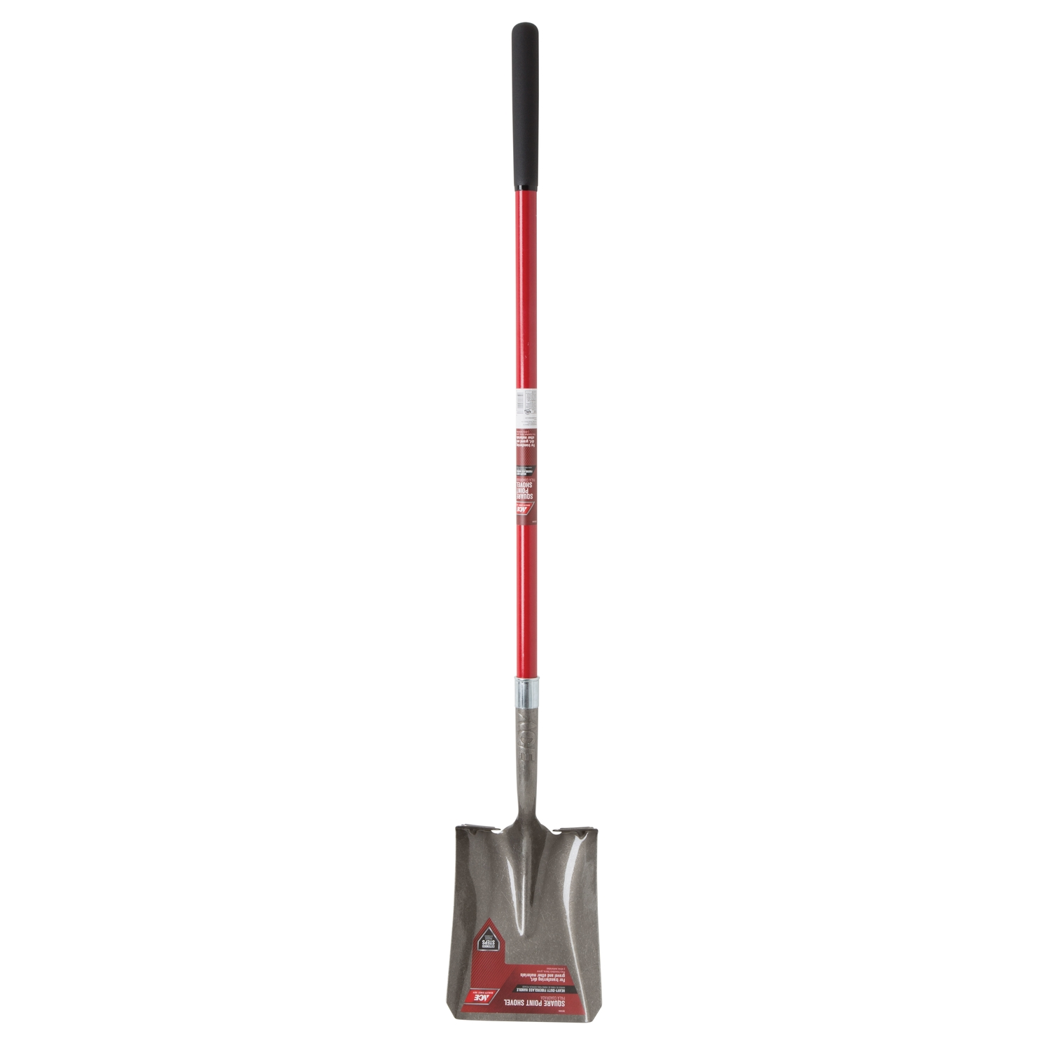 Ace  Steel  9 in. W x 58 in. L Square Point  Shovel