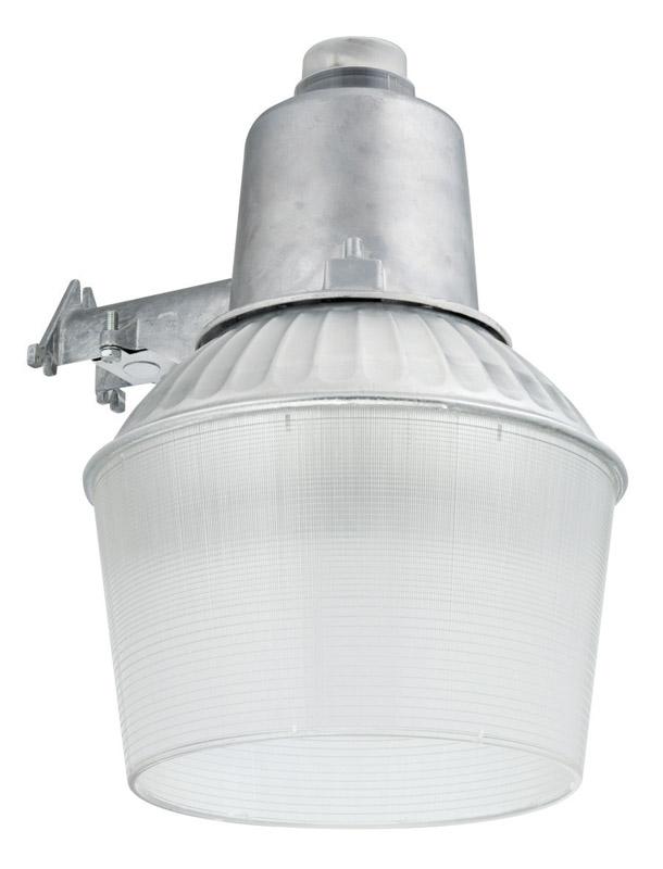 Lithonia Lighting Dusk To Dawn Silver Area Light Hardwired Aluminum