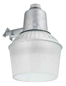 Lithonia Lighting  Dusk to Dawn  Hardwired  Silver  Area Light