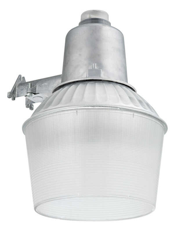 Lithonia Lighting Dusk To Dawn Silver Area Light Hardwired Aluminum