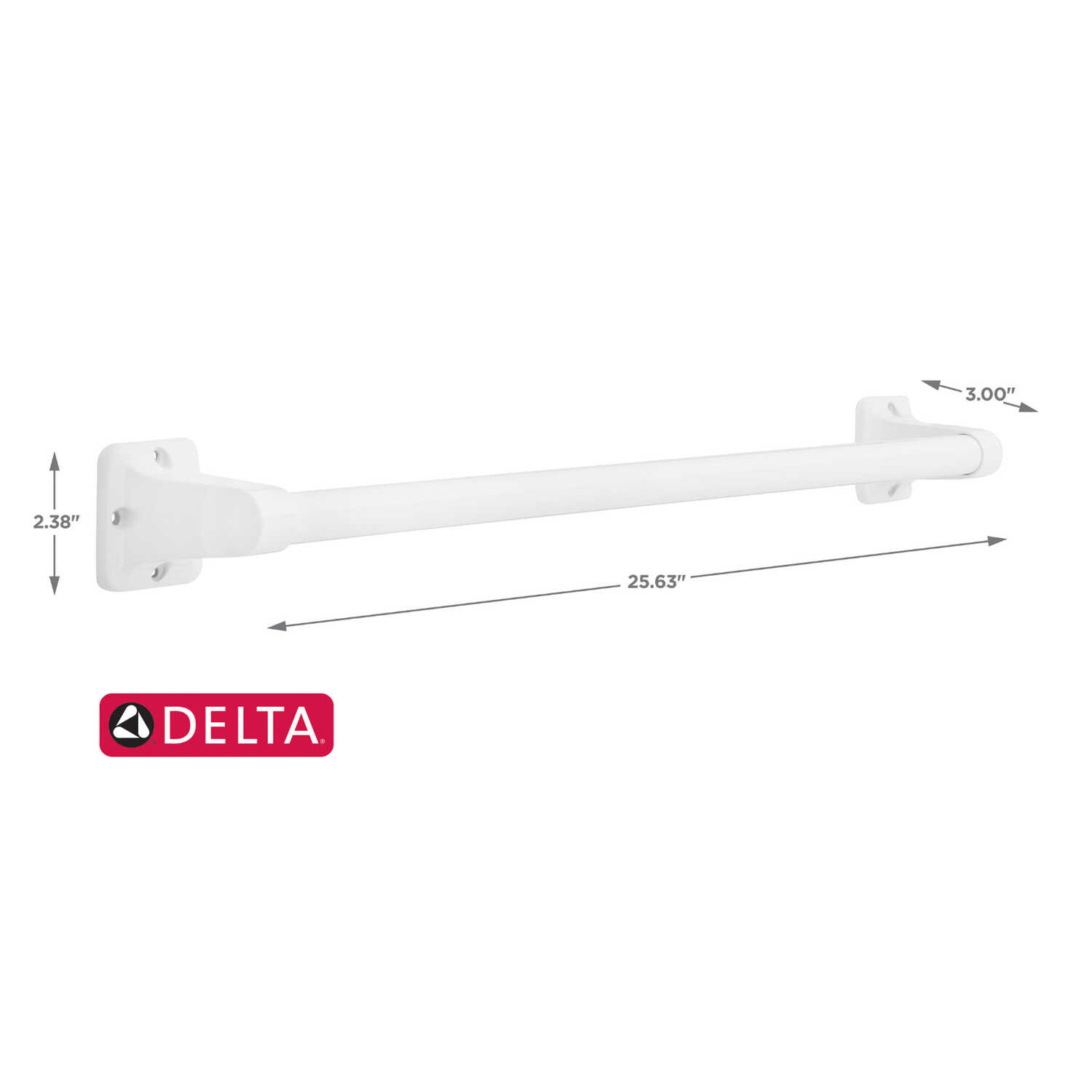 Delta  24 in. L Stainless Steel  Grab Bar