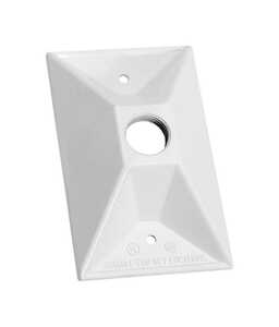 Sigma  Rectangle  Aluminum  1 gang Electrical Cover  For Light Fixtures