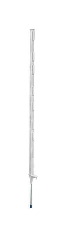 Fi-Shock  3.45 in. H x 1 in. W x 4 ft. L Plastic-Coated  White  Step-in Fence Post