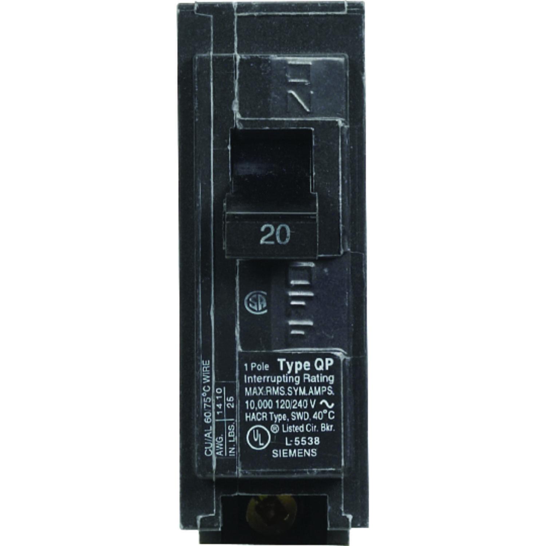 Siemens HomeLine 20 amps Single Pole 1 Circuit Breaker - Ace