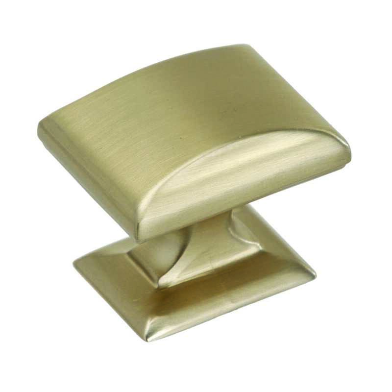 Amerock  1-1/4 in. L Knob  1-1/8 in. Champagne  1 pk Candler Collection