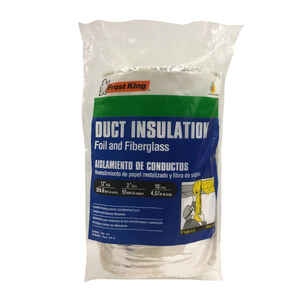 Frost King  12 in.  x 15 ft. L Fiberglass/Vinyl  Duct Insulation