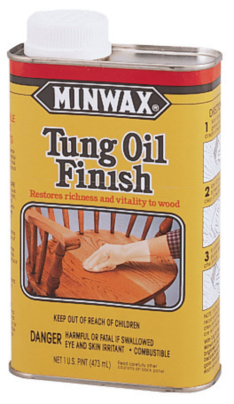 Minwax  Transparent  Oil-Based  Clear  Low Lustre  Tung Oil  1 pt. Amber  Oil-Based