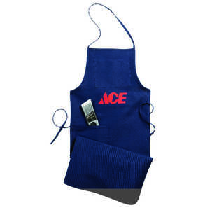 Ace  Heavy Duty 1  Cotton  Shop Apron  Blue  1 pk