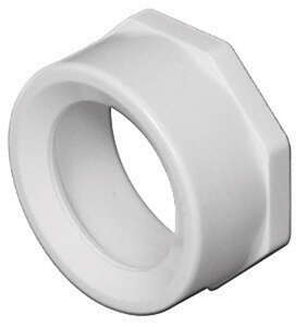 Charlotte Pipe  Schedule 40  4 in. Spigot   x 2 in. Dia. Hub  PVC  Flush Bushing