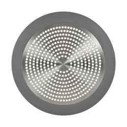 Danco 5-3/4 in. Dia. Brushed Nickel Stainless Steel Shower Drain Strainer