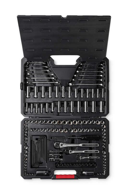 Craftsman  3/8 in.  x 1/4 in. drive  SAE  6 Point Mechanic's Tool Set  168 pc.