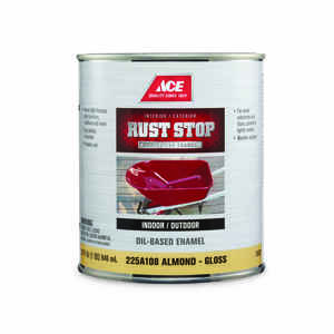Ace  Rust Stop  Indoor and Outdoor  Gloss  Almond  Rust Prevention Paint  1 qt.