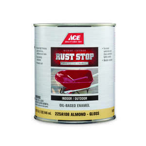 Ace  Rust Stop  Interior/Exterior  Indoor and Outdoor  Almond  Gloss  1 qt. Rust Prevention Paint