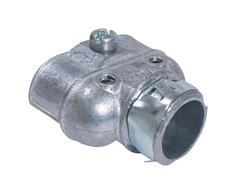 Sigma Electric ProConnex  Snap Lock  3/8 in. Dia. Die-Cast Zinc  Duplex Connector  For AC, MC and FM