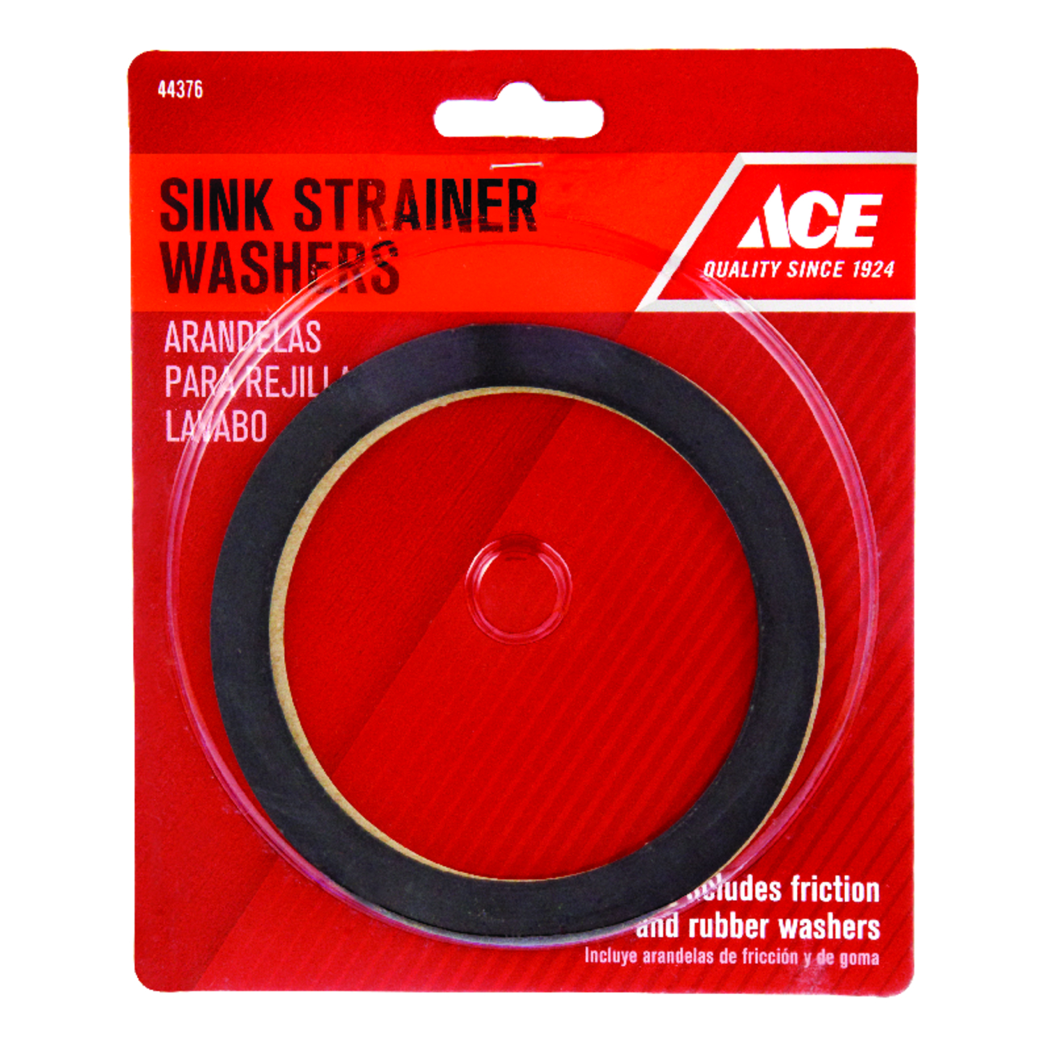 Ace  3-1/2 in. Dia. Rubber  Basket Strainer Washer  1 pc.