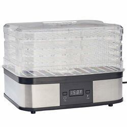 Lem Silver/Black 3.5 sq. ft. Food Dehydrator