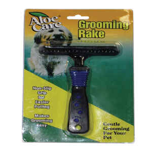 Aloe Care  For Dog Black  Grooming Rake  1  1 pk