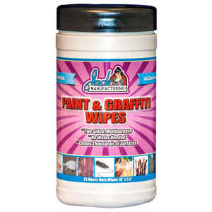 Jack  Paint & Graffiti  Cleaning Wipes  5-1/2 in. W x 10 in. L 25 pk