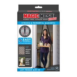 Magic Mesh  As Seen On TV  83 in. H x 39 in. W Black  Mesh  Hands-Free Magnetic Screen Door