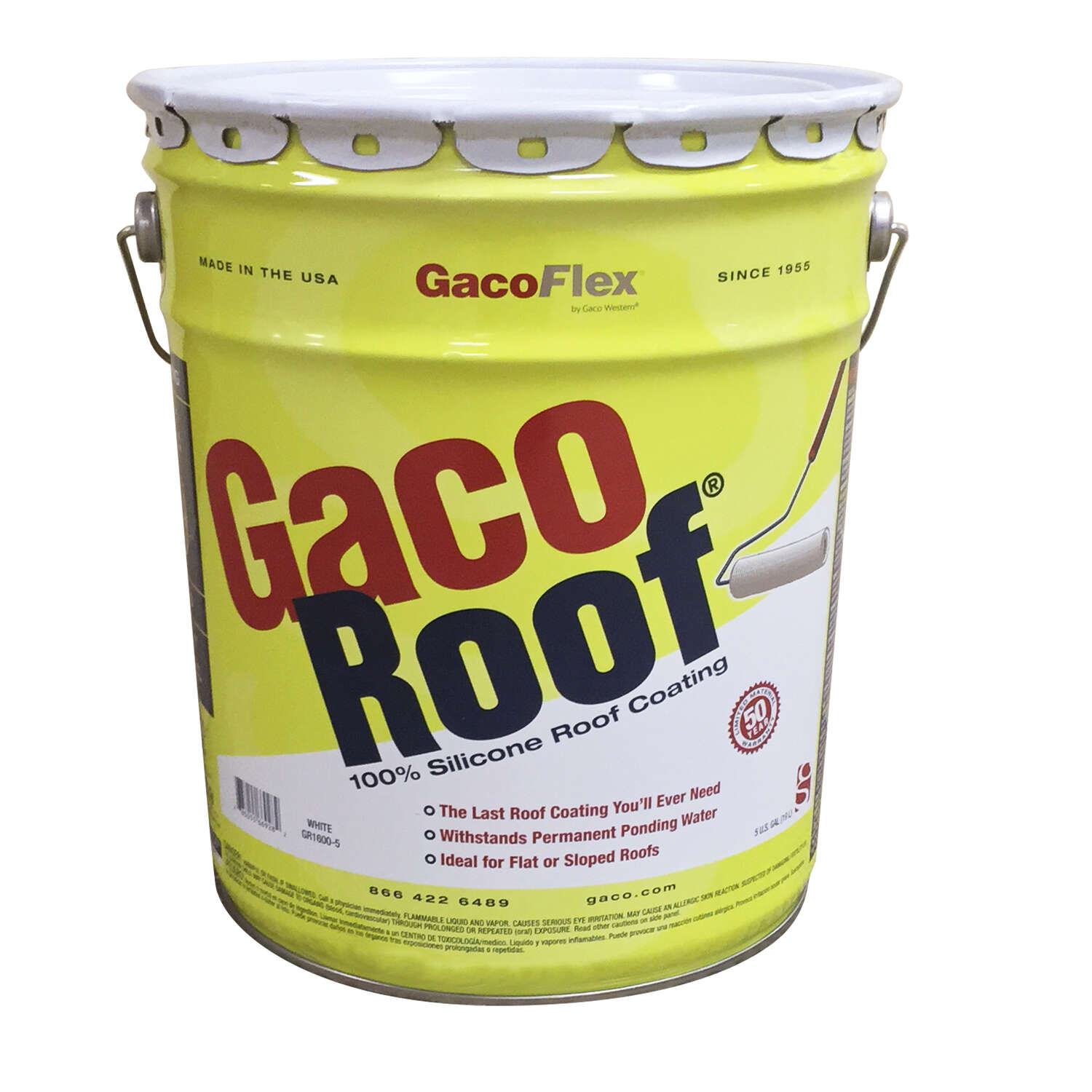 GacoFlex  White  Silicone  Roof Coating  5 gal.