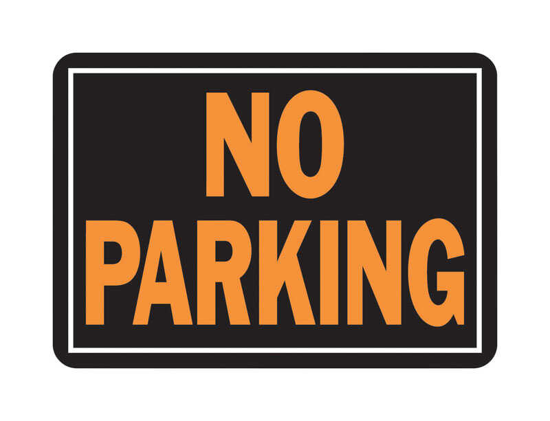Hy-Ko  English  14 in. W x 10 in. H Sign  Aluminum  No Parking