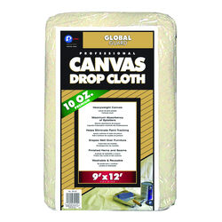 Premier GlobalGuard 9 ft. W x 12 ft. L 10 oz. Canvas Drop Cloth 1 pk