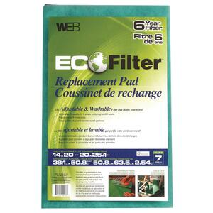 Web  Eco Filter  20 in. W x 25 in. H x 1 in. D Polyester  7 MERV Pleated Air Filter