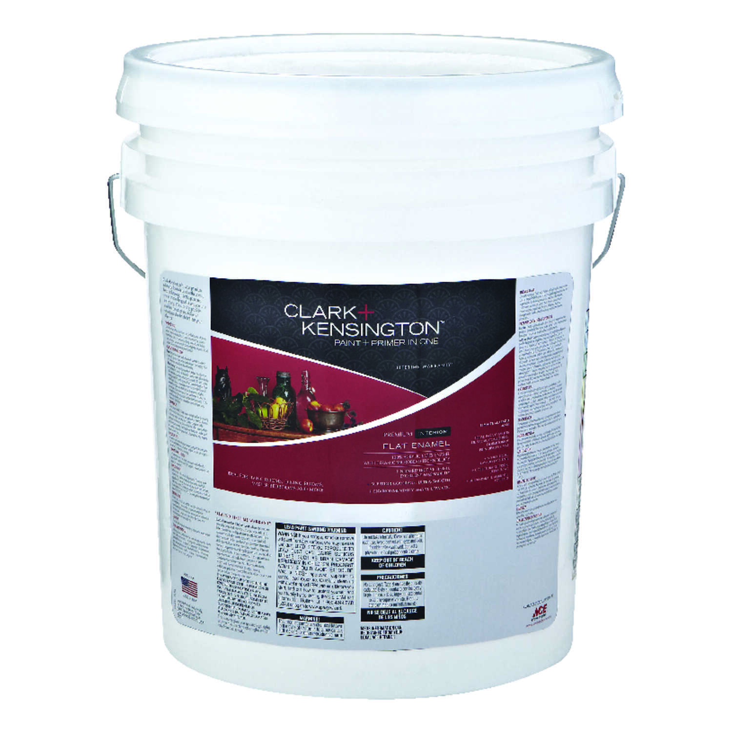 Clark+Kensington  Flat  Tintable Base  5 gal. Mid-Tone High-hide  Paint and Primer