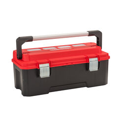 Craftsman 26 in. Plastic Professional Tool Box 11 in. W x 12 in. H Black/Red