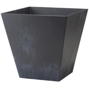 Novelty  Artstone  10 in. H x 9.81 in. W Black  Resin/Stone Powder  Ella  Flower Pot