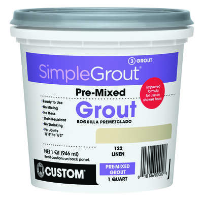 Custom Building Products  SimpleGrout  Indoor  Linen  Grout  1 qt.