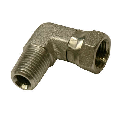 Apache Steel 1/4 in. Dia. x 1/4 in. Dia. Hydraulic Adapter 1 pk